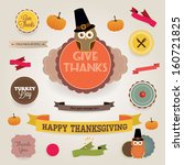a set of retro style 'thank you'... | Shutterstock .eps vector #160721825