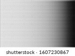 black and white halftone... | Shutterstock .eps vector #1607230867