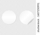vector white mock up paper... | Shutterstock .eps vector #1607250991