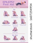 infographic of epilepsy first... | Shutterstock .eps vector #1607254954