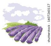 abstract landscape    lavender... | Shutterstock .eps vector #1607260117