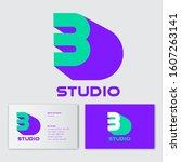 3d studio logo concept. number...
