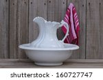 Water Pitcher And Basin On...