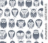 kids seamless pattern with cute ... | Shutterstock .eps vector #1607306911