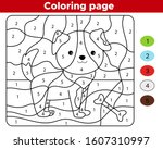 coloring page for preschool...   Shutterstock .eps vector #1607310997