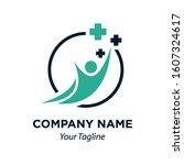 healthcare human figure icon... | Shutterstock .eps vector #1607324617