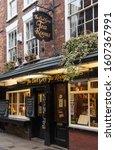 Small photo of YORK, YORKSHIRE/ENGLAND - JANUARY 13, 2013: The Earl Grey Tea Rooms in the historic Shambles street, York, England