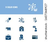 finance icon set and...