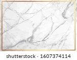 white marble vector background. ... | Shutterstock .eps vector #1607374114