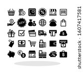 e commerce icon set in flat...
