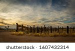 Panorama Of An Old Western...