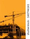 crane working in construction... | Shutterstock . vector #160746161