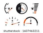 Set Of Fuel Gauge Scales. Fuel...
