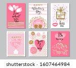 happy valentine's day  set... | Shutterstock .eps vector #1607464984