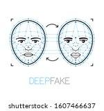 deepfake  deep fake technology... | Shutterstock .eps vector #1607466637