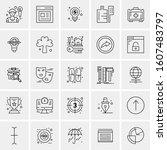 set of 25 universal business... | Shutterstock .eps vector #1607483797