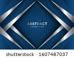 blue background with 3d style.... | Shutterstock .eps vector #1607487037