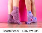 Kids Wearing Colorful  Socks....