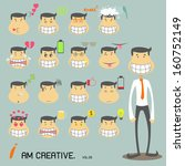 tall businessman | Shutterstock .eps vector #160752149