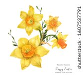 Yellow Spring Floral Bouquet...