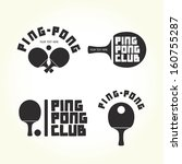 Ping Pong Club Isolated Vector...