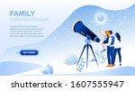 family relationship flat...   Shutterstock .eps vector #1607555947