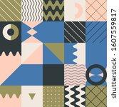 minimal geometric pattern...   Shutterstock .eps vector #1607559817