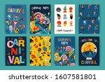 hello carnival. vector set of...   Shutterstock .eps vector #1607581801
