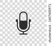simple microphone icon. black...