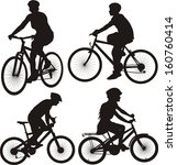 bicycle  cyclist icon | Shutterstock .eps vector #160760414