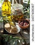 Jar  Ceramic Pot Full Of Olive...