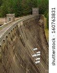the dam at lake laggan ... | Shutterstock . vector #160763831