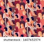 international womens day.... | Shutterstock .eps vector #1607652574