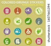 cleaning company colored grunge ... | Shutterstock .eps vector #1607661394