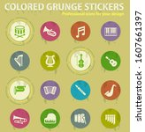 classic instruments colored... | Shutterstock .eps vector #1607661397