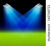 bright spotlights illuminated... | Shutterstock .eps vector #160768721
