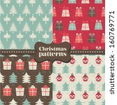 set of christmas patterns ... | Shutterstock .eps vector #160769771