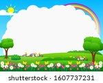 nature landscape background...   Shutterstock .eps vector #1607737231