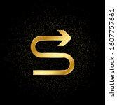 arrow gold vector icon. vector... | Shutterstock .eps vector #1607757661