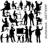 businessman silhouette...   Shutterstock .eps vector #160776599