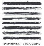 vector brush strokes.set of... | Shutterstock .eps vector #1607793847