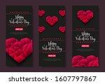 vertical set for happy... | Shutterstock .eps vector #1607797867