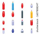 Gas Cylinders Icons Set....