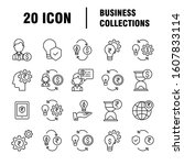 business icons set. icons for... | Shutterstock .eps vector #1607833114