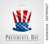 presidents' day. presidents day ...   Shutterstock .eps vector #1607845627