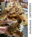 Small photo of boodle fight asian philippine food
