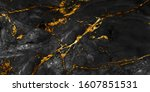 Black marble with golden veins  ...