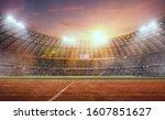 3 D Athletics Stadium On Sunset....