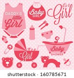 it's a girl labels and icons... | Shutterstock .eps vector #160785671