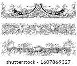 Baroque Vintage Borders In...